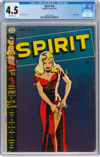 The Spirit #22 (Quality, 1950) CGC VG+ 4.5 Off-white pages