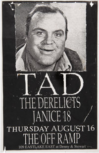 """Tad/The Derelicts/Janice 18 11"""" x 17"""" Off Ramp Concert Poster (1990)"""