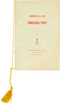 Music Memorabilia:Posters, Hitsville U.S.A. 1964 Motown Christmas Program Signed by Marvin Gaye....