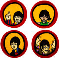 Music Memorabilia:Memorabilia, The Beatles Yellow Submarine Round Port Hole Rugs Set of Four (Suba films Ltd. 2007).... (Total: 4 Items)