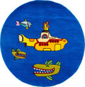 Music Memorabilia:Memorabilia, The Beatles Yellow Submarine Large Plush Circular Rug (Hallon Design,2005)....