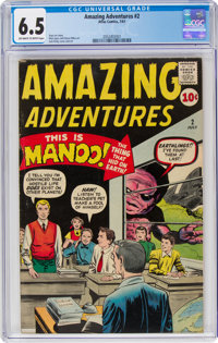 Amazing Adventures #2 (Marvel, 1961) CGC FN+ 6.5 Off-white to white pages