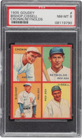 Baseball Cards:Singles (1930-1939), 1935 Goudey 4-In-1 Bishop/Cissell/Cronin/Reynolds #6E PSA NM-MT 8 - Pop One, None Higher! ...