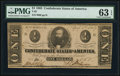 Confederate Notes:1863 Issues, T62 $1 1863 PF-10 Cr. 478 PMG Choice Uncirculated 63 EPQ.. ...