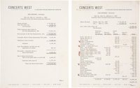 Jimi Hendrix 1969 Hawaii Tickets (2) and Concerts West Financial Statement