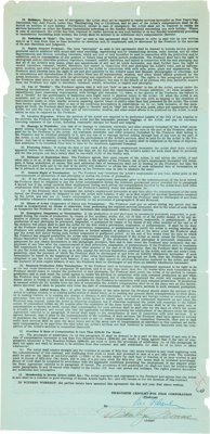 Marilyn Monroe Signed Twentieth Century-Fox Film Corp. Screen Actors Guild Minimum Contract for Free Lance Players (1950...