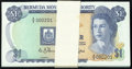 Bermuda Monetary Authority 1 Dollar 1.1.1988 Pick 28d Low Serial Number Pack of 100 Consecutive Notes Crisp Uncirc... (T...