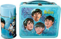 Music Memorabilia:Memorabilia, The Beatles Metal Lunchbox with Thermos. Produced by Aladdin Industries (USA,1965)....