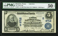 Houston, TX - $5 1902 Plain Back Fr. 601 The Union National Bank Ch. # (S)9712 PMG About Uncirculated 5