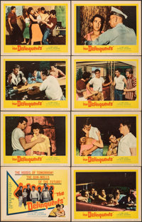 "The Delinquents (United Artists, 1957). Overall: Very Fine. Lobby Card Set of 8 (11"" X 14""). Exploitation..."