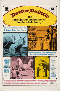 """Doctor Dolittle & Other Lot (20th Century Fox, 1968). Folded, Very Fine-. One Sheets (2) (27"""" X 41""""). Fant..."""