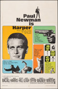 "Movie Posters:Crime, Harper (Warner Bros., 1966). Folded, Fine+. One Sheet (27"" X 41""). Crime.. ..."
