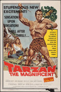 "Movie Posters:Adventure, Tarzan the Magnificent (Paramount, 1960). Folded, Fine. One Sheet (27"" X 41""). Adventure.. ..."