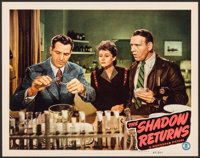 "The Shadow Returns (Monogram, 1946). Near Mint. Lobby Card (11"" X 14""). Mystery. From the Collection of Frank..."