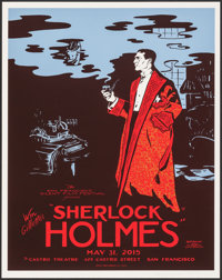 """Sherlock Holmes (2015). Rolled, Very Fine/Near Mint. Autographed and Numbered Poster (18"""" X 24"""") Wayne Shellab..."""