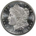 1884-CC $1 MS65+ Prooflike PCGS. PCGS Population: (577/123). NGC Census: (266/64). CDN: $480 Whsle. Bid for NGC/PCGS MS6...