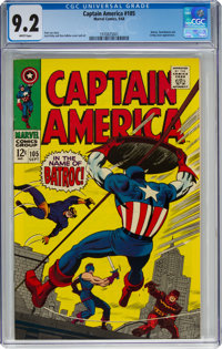 Captain America #105 (Marvel, 1968) CGC NM- 9.2 White pages