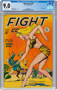 Fight Comics #56 (Fiction House, 1948) CGC VF/NM 9.0 Off-white pages