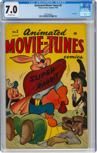 Animated Movie-Tunes #2 (Timely, 1946) CGC FN/VF 7.0 Off-white pages