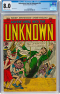 Golden Age (1938-1955):Horror, Adventures Into The Unknown #59 (ACG, 1954) CGC VF 8.0 Off-white to white pages....