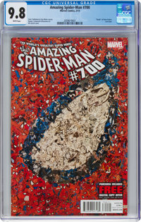 The Amazing Spider-Man #700 (Marvel, 2013) CGC NM/MT 9.8 White pages