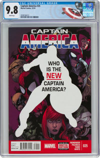 Captain America #25 (Marvel, 2014) CGC NM/MT 9.8 White pages