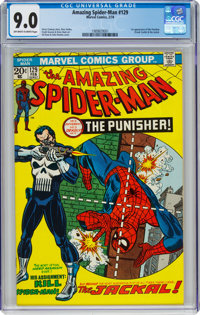 The Amazing Spider-Man #129 (Marvel, 1974) CGC VF/NM 9.0 Off-white to white pages