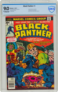 Black Panther #1 (Marvel, 1977) CBCS VF/NM 9.0 Off-white to white pages