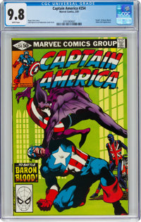 Captain America #254 (Marvel, 1981) CGC NM/MT 9.8 White pages