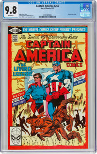 Captain America #255 (Marvel, 1981) CGC NM/MT 9.8 White pages