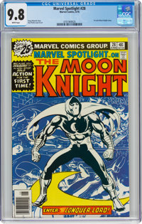 Marvel Spotlight #28 Moon Knight (Marvel, 1976) CGC NM/MT 9.8 White pages