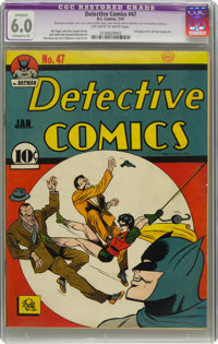 Detective Comics #47 (DC, 1941) CGC Apparent FN 6.0 Extensive (P) Off-white to white pages