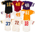 Football Collectibles:Uniforms, 1970's-'80's College Football Game Worn Jerseys Lot of 20. ...