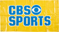 Football Collectibles:Others, 1980's CBS Sports Banner. A familiar site at all ...