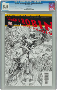 All Star Batman & Robin, the Boy Wonder #1 Retailer Incentive Edition (DC, 2005) CGC VF+ 8.5 White pages