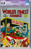 Golden Age (1938-1955):Superhero, World's Finest Comics #8 (DC, 1942) CGC Apparent FN 6.0 Slight (B-1) Off-white to white pages....