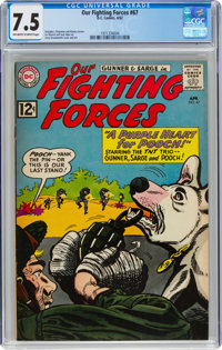 Our Fighting Forces #67 (DC, 1962) CGC VF- 7.5 Off-white to white pages