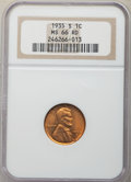 1935-S 1C MS66 Red NGC. NGC Census: (283/47). PCGS Population: (393/24). CDN: $240 Whsle. Bid for NGC/PCGS MS66. Mintage...