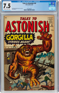 Tales to Astonish #18 (Marvel, 1961) CGC VF- 7.5 Off-white to white pages