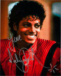 """Music Memorabilia:Autographs and Signed Items, Michael Jackson Signed 8"""" x 10"""" Color Photo...."""