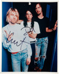 """Music Memorabilia:Autographs and Signed Items, Nirvana Band Signed 8"""" x 10"""" (circa early 1990s)...."""