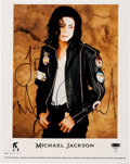 """Music Memorabilia:Autographs and Signed Items, Michael Jackson Signed 8"""" x 10"""" Color Photo (1991)...."""