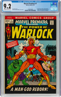 Marvel Premiere #1 Adam Warlock (Marvel, 1972) CGC NM- 9.2 Off-white to white pages