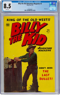 Billy the Kid Adventure Magazine #3 (Toby Publishing, 1951) CGC VF+ 8.5 White pages