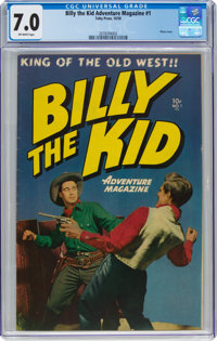 Billy the Kid Adventure Magazine #1 (Toby Publishing, 1950) CGC FN/VF 7.0 Off-white pages