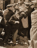 Photographs, Weegee (American, 1899-1968). Queens Cops Rough Up Newspaper Picket Line April 24, 1937, (3 works). Gelatin silver. 6-3/... (Total: 3 )
