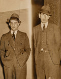 Photographs, Weegee (American, 1899-1968). 'Crime Cruise' Jails 2 Youths, New York, May 11, 1937. Gelatin silver. 9-3/4 x 7-5/8 inche...