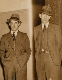 Weegee (American, 1899-1968) 'Crime Cruise' Jails 2 Youths, New York, May 11, 1937 Gelatin silver 9-3/4 x 7-5/8 inche
