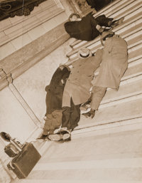 Weegee (American, 1899-1968) Photographers Nap on Courthouse Steps, circa 1937 Gelatin silver 9-5/8 x 7-1/2 inches (2