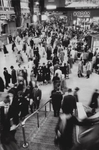 Alfred Eisenstaedt (American, 1898-1995) Commuters at Grand Central Terminal, New York, 1961 Gelatin